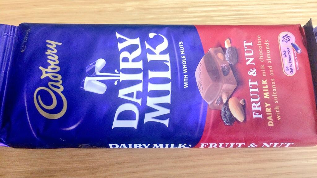 キャドバリー フルーツ&ナッツチョコレート