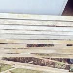 木製ベンチ ビフォー・アフター