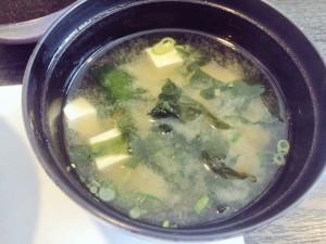 銀八鮨 ランチ味噌汁
