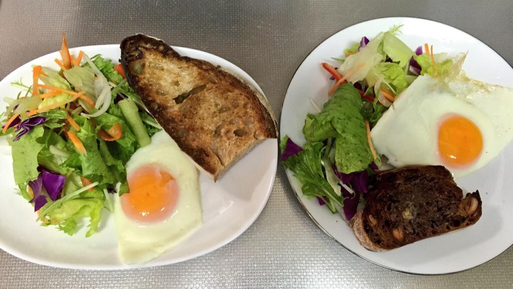 SAWAMURAのパン・オ・ルヴァンとパン・オ・エスプレッソで朝ごはん
