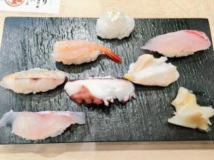 金沢まいもん寿司 地魚だらけで7貫盛り