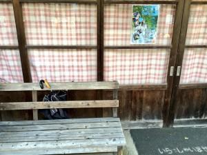 湯涌温泉 バス停ベンチ