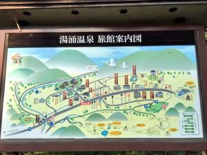 湯涌温泉 旅館案内図