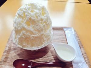 巣鴨 かき氷工房 雪菓 レアチーズ練乳トッピング