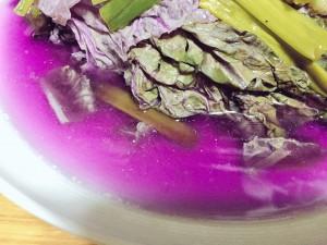 紫白菜蒸し